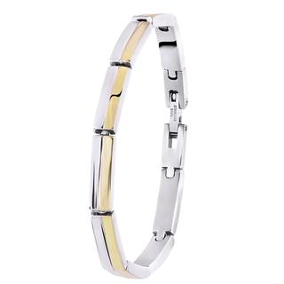 Stalen armband staal/gold