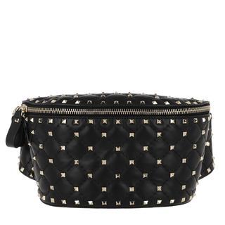 Tasche - Rockstud Spike Bum Bag Leather Black in zwart voor dames