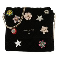 Patrizia Pepe Schoudertassen - Pattern Crossbody Bag Velvet Black in zwart voor dames