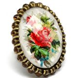 Vintage floral painting ring My Jewellery