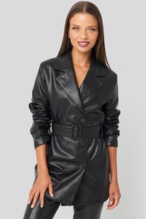 Oversized PU Leather Jacket