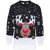 BLACK RUDOLPH SWEATER -onesize