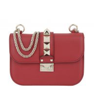 Valentino Schoudertassen - Rockstud Lock Shoulder Bag Small Rosso in rood voor dames