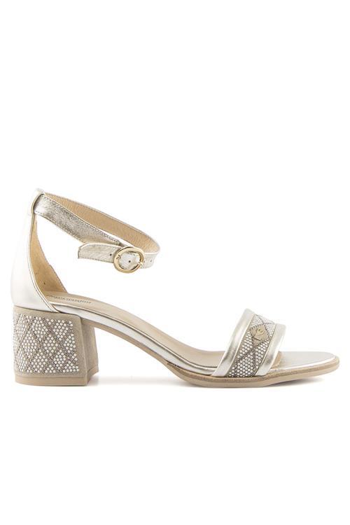 Sandalo Con Tallone In Pelle