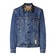 Levi's The Trucker denim jack met contrasterende kraag