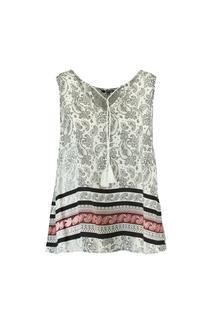 Dames Mouwloze blouse met paisleyprint