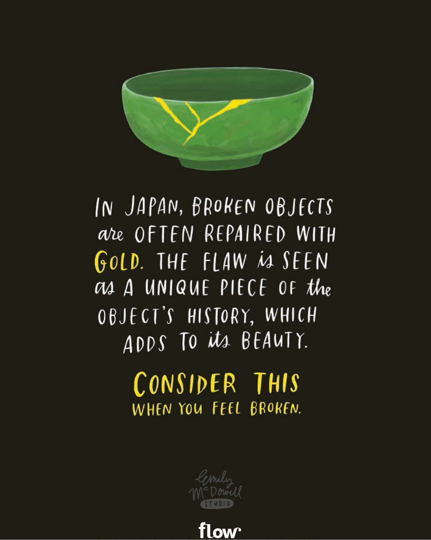 Positive Spiritual Quotes: Broken Objects
