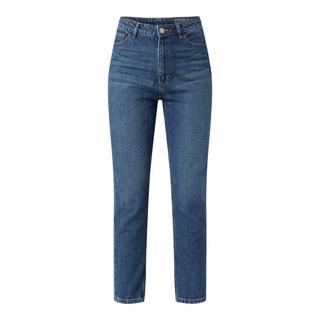 Skinny mom fit jeans van katoen