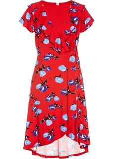 Dames jersey jurk zonder mouwen in rood