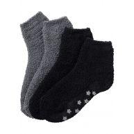 Dames huissokken (2 paar) in zwart - bpc bonprix collection