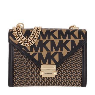 Tasche - Whitney Shoulder Bag Khaki in bruin voor dames
