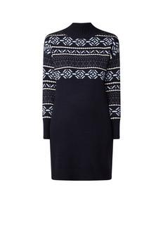Bexley midi-jurk met ingebreide print