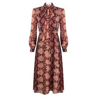 Maxi jurk met slangenprint- Maat XXL