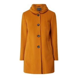 Wollen jas met kasjmier en knoopsluiting