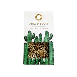 Paperclips. Cactus. Goud.