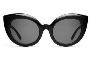 Zonnebril. Cat-eye. Zwart.