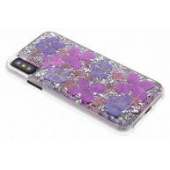 Paarse Karat Petals Case voor de iPhone X