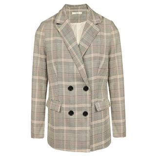 Grey/Beige Checked Blazer