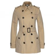Burberry Jassen - Burberry London Kensington Short Double Breast Trench Coat Honey in beige voor dames