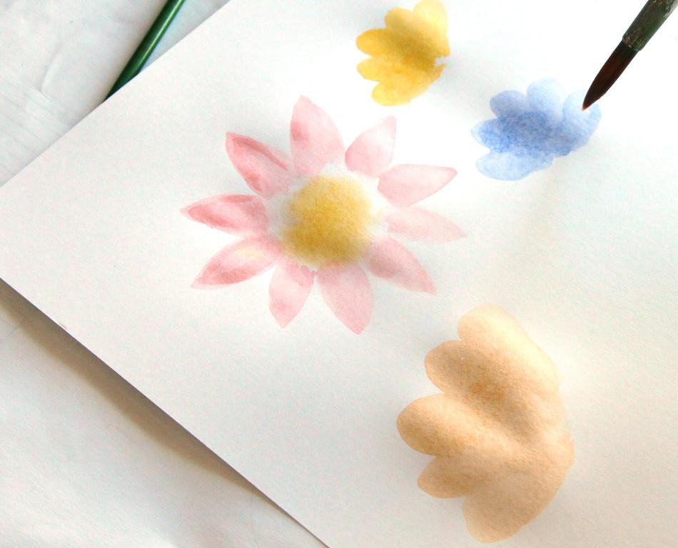 Verfen bloem