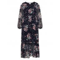 Floral crêpe maxi dress
