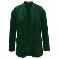 Velvet Blazer - Bottle Green