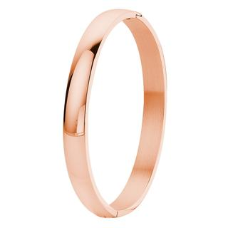 Stalen armband bangle roseplated 8mm