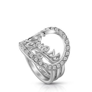 rhodiumplated ring Swarovski kristal