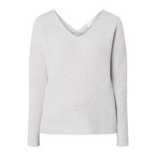 Pullover van wol met V-hals