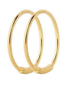 Basic oorringen met gouden plating