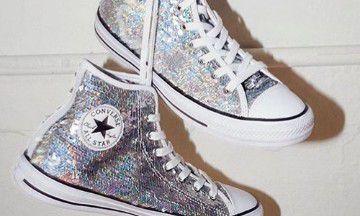 Converse komt met een sparkly make-over van je favo sneakers