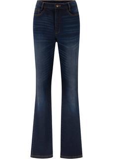 Dames flared jeans in zwart