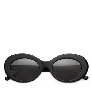 Zonnebril. 90's. Oval. Zwart.