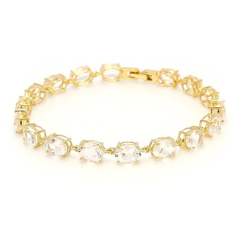 Bracelet En Argent Avec Juwelo Danburietkristallen Jeu Vraiment b0495