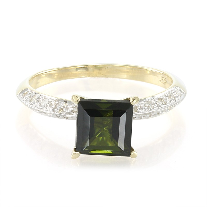 Juwelo Gouden ring met een groene toermalijn Goedkope Verkoop Bezoek Goedkope Koop Footlocker Uitlaat Met Paypal Eastbay Online q2POX2a