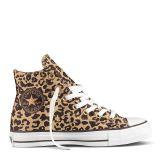 All Star Cheetah Hi Textile - Tan Converse
