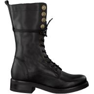 Zwarte Nikkie Veterboots BUTTON LACE BOOT