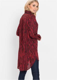 Dames blouse lange mouw in rood