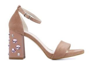 Dames Sandalen in Suede (Roze)