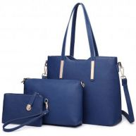 MISS LULU LARGE SHOULDER TOTE BAG SET (LT6648 NY)