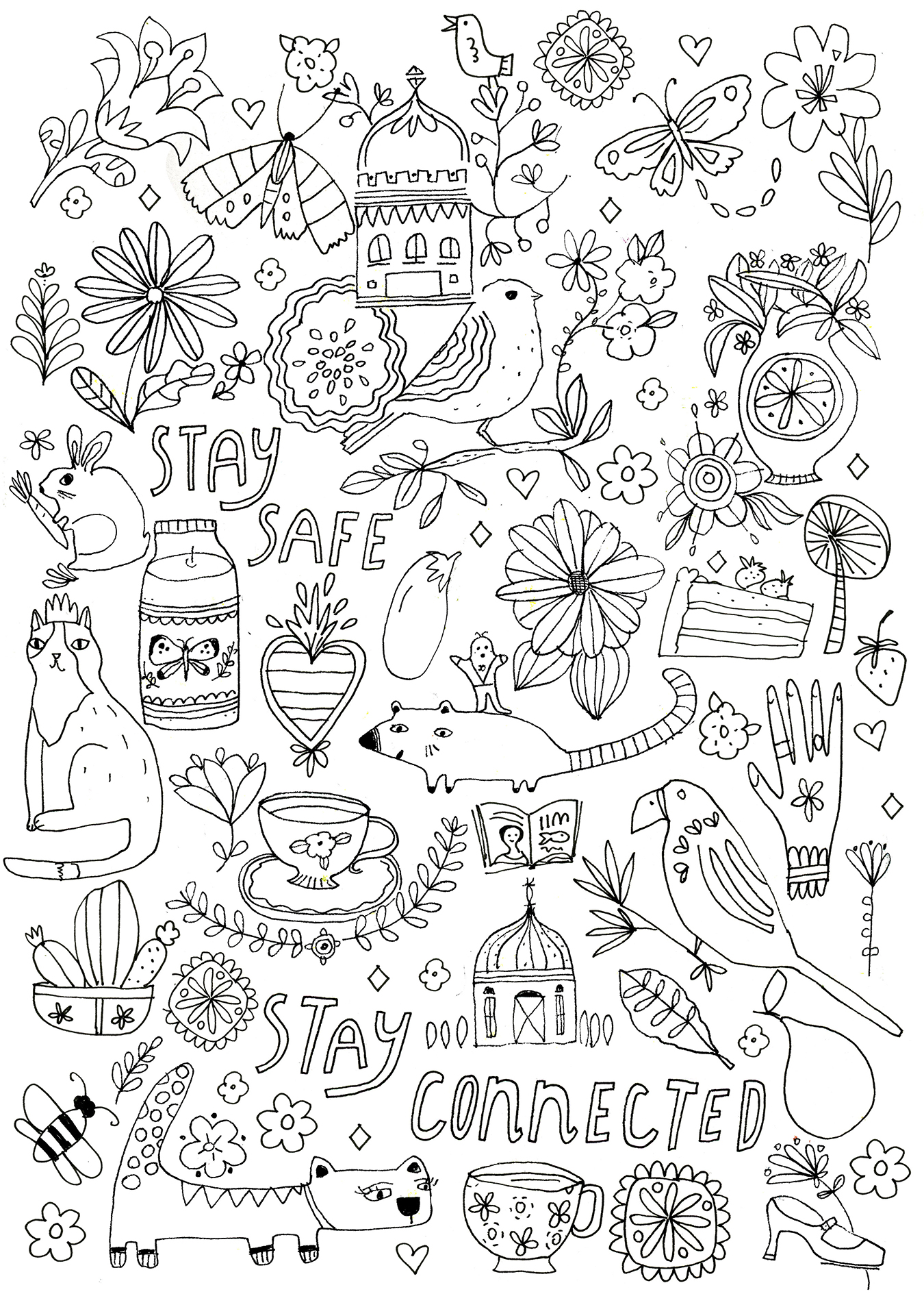 Comforting coloring pages - Flow Magazine