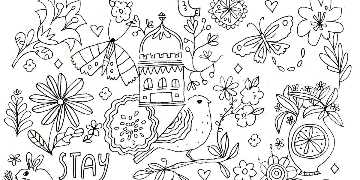 Comforting Coloring Pages Flow Magazine