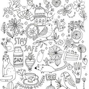 coloring page - staysafe.stayconnected Jennifer Orkin Lewis - Flow Magazine