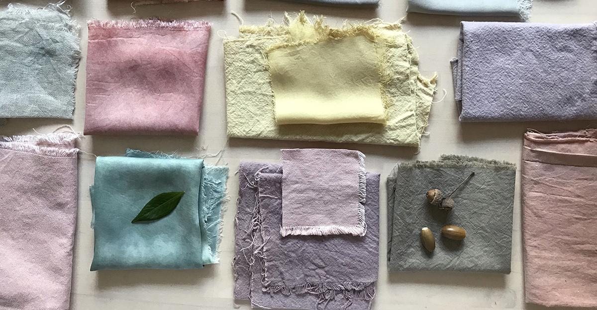 textielverven natuurlijke materialen