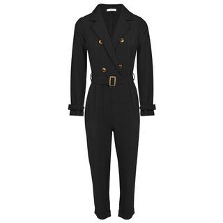Zwarte Jumpsuit Met Tailleriem