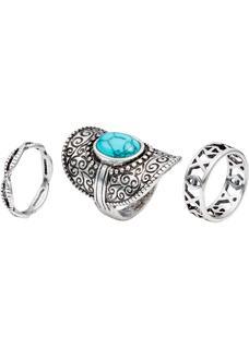 Dames ring (3-dlg. set) in zilver