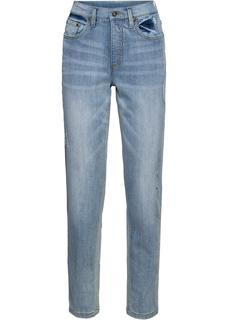 Dames mom-jeans in blauw