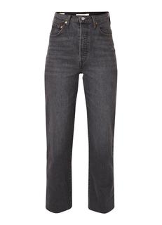 Ribcage high rise cropped straight fit jeans