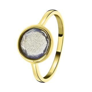 Zilveren ring gold Gemstone labradorite