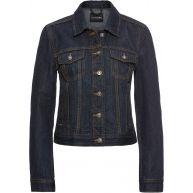 Dames jeansjack lange mouw in zwart - BODYFLIRT